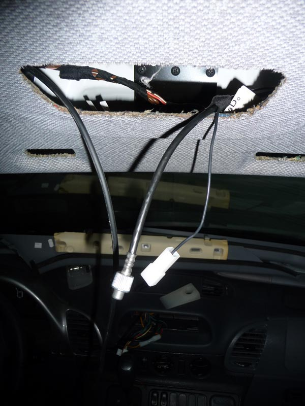 headliner_cables installing a backup camera in a 2006 itasca navion